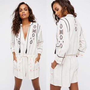 Free People Baja Embroidered Romper